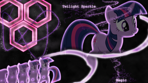 [Hexagon Series] - Twilight Sparkle 1920x1080 by forgotten5p1rit