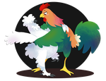 Pollo y Gallo by spiffychicken