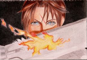 Squall Leonhart/ Leon by ramennnoodles1
