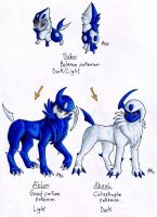 Fakemon -Absol Family by ARVEN92