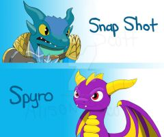 Skylanders Reptile Mascots by sapphire3690