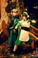 The Kyoshi Warrior and Earthbender by TaryBelmont