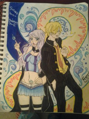 One Piece: Striped Karina OC and Sanji :)