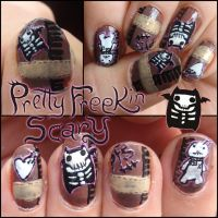 Pretty freekin scary nails by Ninails