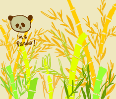panda tweet bamboo by Party-Hat-Cat