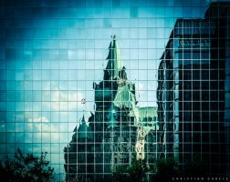 Ottawa Parliament Mirror by gabolos