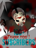 100 + Subs. Art by OpticDeviant