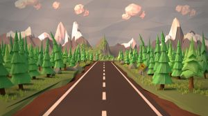 Open Road (Low Poly Wallpaper) by Leprekhaun