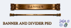 Banner and divider PSD by jojo-ojoj