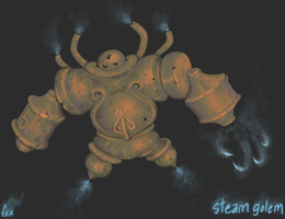 Exfolian Steam Golem by FutureDami