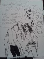 E3 and sexism sketchbook dump by llothcat