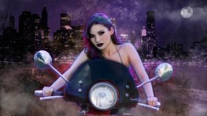 Midnight Motorcycle by BMNetwork