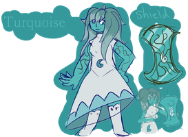 Turquoise by snow-moss