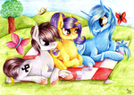 Commission - The Picnic Trio by Julunis14