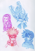 Anime Sketches 1 by rainetomoe