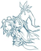 Supporting Supports - Rin and Lulu by RinTheYordle