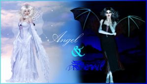 Angel and Devil by Rosshi