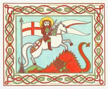 St George and the Dragon by elegaer