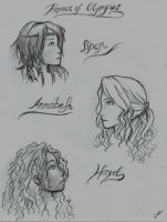 Heroes of Olympus Girls by MarielYoingco711