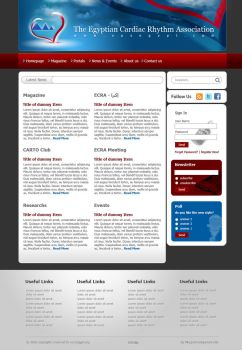 EPS Egypt website template by ohmto