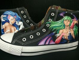 Darkstalkers sneakers by JanosAstarte