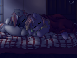 Sleepy ponies by Art-forArts-Sake