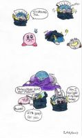 Meta Knight and Kirby doodles by Carurisa