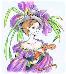 iris lady with newt by Duckweed