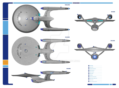 USS Enterprise NCC-1701-A Haynes style plans by calamitySi