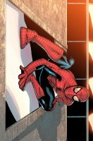Spider man chillin by atombasher