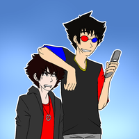 Sollux: Use KK as an armrest, advertise ask blog by Eganov