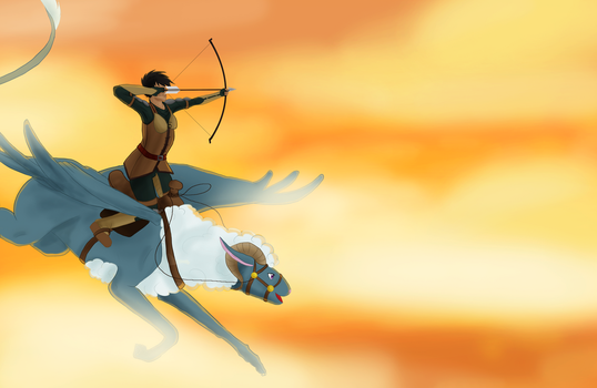[PCP] Huntress in the sky by CCDragon-93