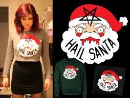Hail Santa Sweaters and Patches by loveandasandwich