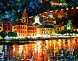 Floating city by Leonid Afremov by Leonidafremov