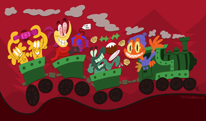 Festive Train (2012 Xmas card) by GagaMan