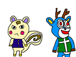Marshal and Bam from Animal Crossing by MikeEddyAdmirer89