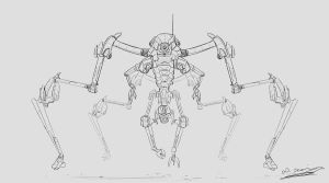 Orbiter Bot Quick Drawing by Brollonks