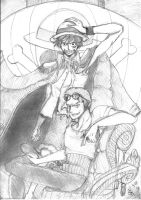The Pirate King and First Mate by SangoKisaragi