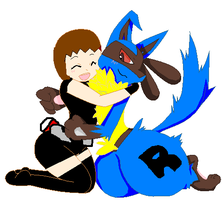 Me und my Lucario by veronica-the-fox
