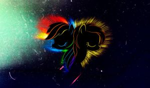 Spitfire-Rainbow Dash Flare Wallpaper by InternationalTCK