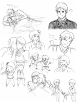 Romania x Prussia doodles by JackXAngelicaforever