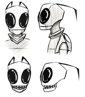 Zim cosplay mask (concept art) by VengefulSpirits