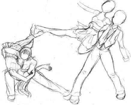 Swing Dance sketch by Kakkara18