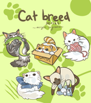 Cat Breed Series Keychains by aconite-pawlove