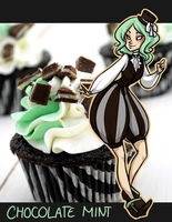 Chocolate Mint Cupcake by kit-n-kibs