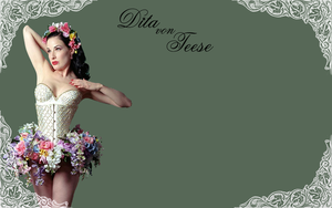Dita Von Teese Wallpaper by DysfunctionalScar