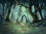Fantasy Forest by Wolkenfels