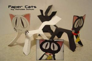 Paper Cats by melllic