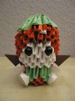 3D Origami - Strawberry Girl - 1 by Mixowelle
