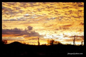 arizona sunset by HuckNaz